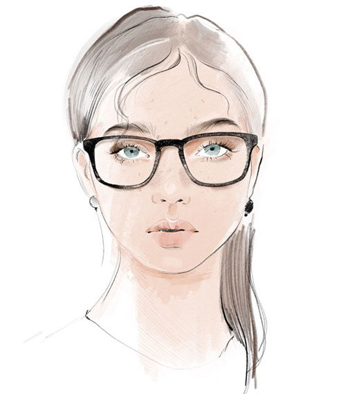 Briller til rundt ansikt