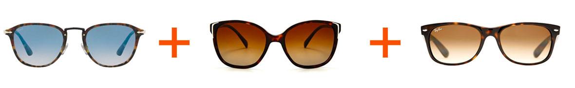 tre par solglasögon